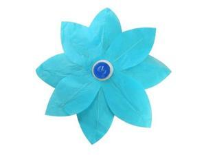 JH Specialties 56506 Lotus Floating Paper Lanterns - Turquoise 6 Count