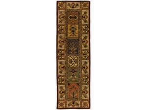 Safavieh CL386A-220 2 Ft. - 3 In. x 20 Ft. Runner, Traditional Classic Assorted Hand Tufted Rug
