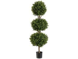 LPB274-GR-TT 4 ft. Triple Ball Boxwood Top Two-tone Green- Case of 1
