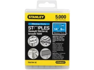 Stanley Tools TRA704-5C 0.25 in. Heavy-Duty Staples