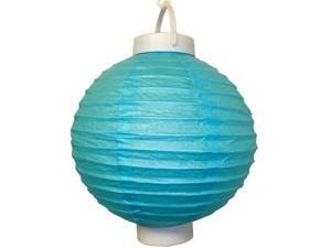 JH Specialties 79503 Battery Operated Paper Lanterns - 8 in. - Turquoise - 3 Count