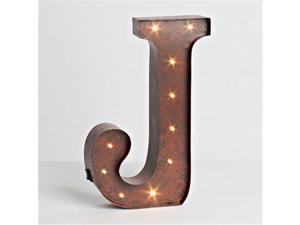 Gerson Compnay 92669J Wall Decor Lighted Letter - J