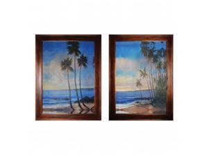 Elk Lighting 10215-S2 48 inch Embellished Tropical Breeze I  And  II By Decorative Framed Art