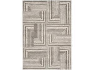 Safavieh PRL3740D-8 Porcello Power Loomed Large Rectangle Rug, Light Grey - Dark Grey, 8 x 11 ft. 2 in.