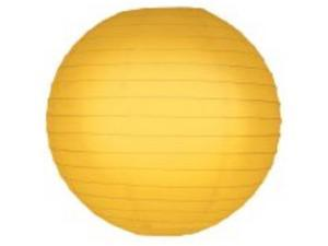 JH Specialties 78205 Round Paper Lanterns - 10 in. - Yellow - 5 Ct