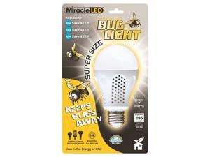 MiracleLED 605014 7 Watt Super Bug Light  395 Lumens  Bug Free Porch and Patio Light  Yellow