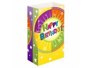 JH Specialties 48624 Luminaria Bags - Standard Happy Birthday 24 Ct