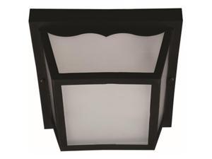 Hardware Express 2468481 Ceiling Fixture With Glass Panel - Black