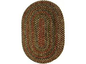 Rhody Rug KA33R084X108 Katie 7 x 9 ft. Multi Indoor-Outdoor Oval Braided Rug, Brown