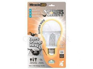 MiracleLED 605012 7 Watt Super Spider Light  395 Lumens  Spider Free Deck and Porch Light  Yellow