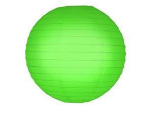 JH Specialties 78605 Round Paper Lanterns - 10 in. - Green - 5 Ct