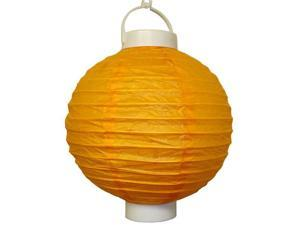JH Specialties 79203 Battery Operated Paper Lanterns - 8 in. - Orange - 3 Count