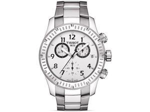 T0394171103700 Tissot V8 Chronograph Mens Watch - Silver Dial