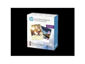HP K6B83A Social Media Snapshot Removable Sticky Photo Paper, 4X5, 11Mil, White, 25 Sheets