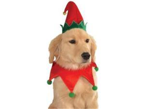 Rubies  887717 Rubies Elf Pet Hat with Bell- Collar - S-M or M-L