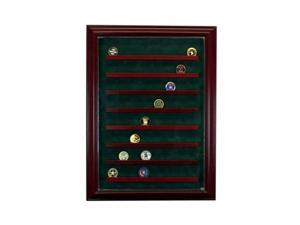 Perfect Cases PC-64COINCB-C 6 Graded Card Cabinet Style Display Case, Cherry