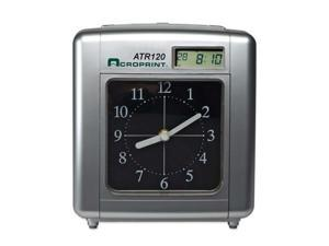 Acroprint Time Recorder 010212000 Model ATR120 Analog-LCD Automatic Time Clock