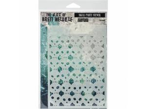 Stampers Anonymous BWS-6 Brett Weldele Stencil Collection 6.5 x 4.5 in. - Skull Party