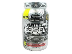 Muscletech 800513 Essential Series 100 Percent Platinum Casein Strawberry Shortcake