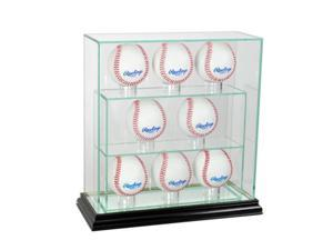 Perfect Cases 8UPBSB-B 8 Upright Glass Display Case, Black