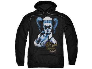 Trevco Batman Aa-Arkham Harley Quinn - Adult Pull-Over Hoodie - Black, Extra Large