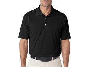 adidas A161 Mens ClimaLite Textured Polo - Black, XL