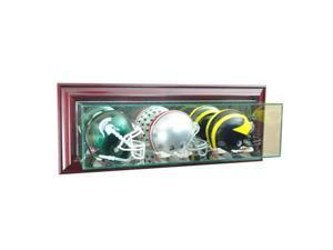 Perfect Cases WMTRPMH-C Wall Mounted Triple Mini Football Display Case, Cherry