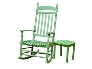 International Concepts K-54208-206 Set of 2 pcs - Porch rocker with side table Moss