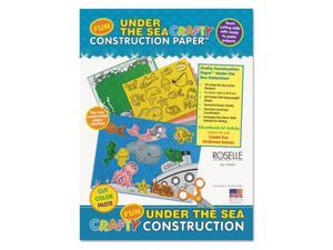 Pacon Corporation 02806 9 x 12 Crafty Printed Construction Paper - Under The Sea, 40 Sheets Per Pad