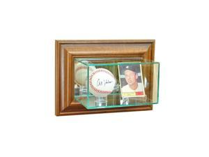 Perfect Cases WMCRDSB-W Wall Mounted Card and Baseball Display Case, Walnut