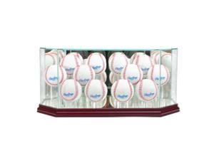Perfect Cases 12BSB-C Octagon 12 Baseball Display Case, Cherry