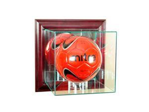Perfect Cases WMSOC-C Wall Mounted Soccer Display Case, Cherry