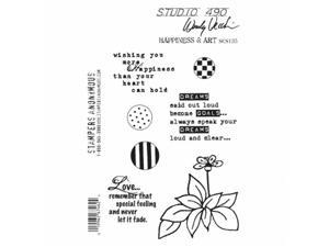 Stampers Anonymous SCS135 Studio 490 Cling Stamps 7 x 8.5 in. - Happness & Art