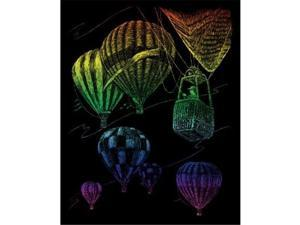 Royal & Langnickel RAIN23 Engraving Art Set Rainbow Hot Air Balloon