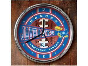 Kansas Jayhawks Chrome Wall Clock