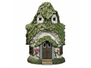 Exhart 30185 14 in. Solar Leaf Roof Cottage