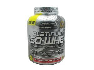 fitmart 800547 Essential Series 100 Percent Platinum ISO-Whey Strawberry Shortcake
