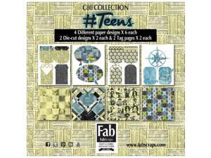 FabScraps MC80001A NumberTeens Journal Pack