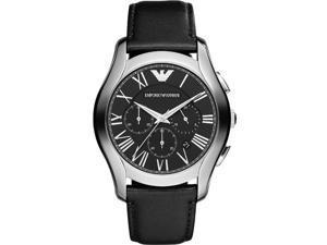AR1700 Emporio Armani Black Leather Chronograph Mens Watch