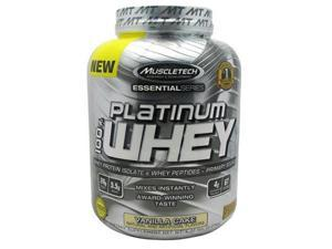 Muscletech 800529 Essential Series 100 Percent Platinum Whey Vanilla Cake