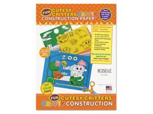 Pacon Corporation 02803 9 x 12 Crafty Printed Construction Paper - Cutesy Critters, 40 Sheets Per Pad