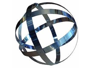 Rome 722 18 in. Stainless Steel Banded Sphere