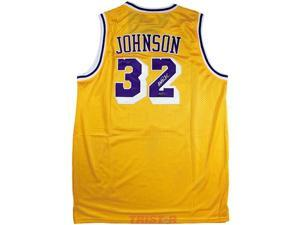 TRISTAR Magic Johnson Autographed Los Angeles Lakers Gold Adidas Jersey