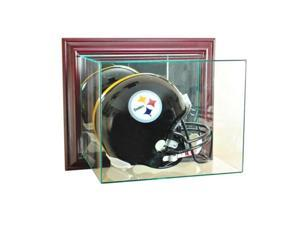 Perfect Cases WMFBH-C Wall Mounted Football Helmet Display Case, Cherry