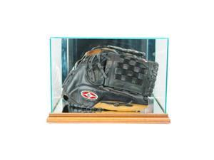 Perfect Cases BSBGLR-W Rectangle Baseball Glove Display Case, Walnut
