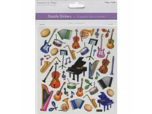 MultiCraft Dazzle Clear Stickers-School Band