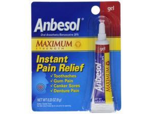 Anbesol Maximum Strength Oral Anesthetic Gel, 0.33 Oz.