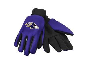 Forever Collectibles 74231 Baltimore Ravens Colored Palm Sport Utility Gloves