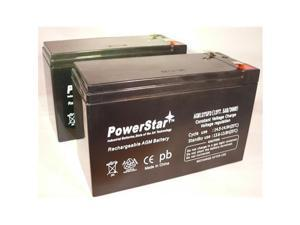 PowerStar AGM1275F2-2Pack1 Replacement 12V 7.5Ah For Ub1290, Ub1290F2 - Sealed Lead Acid Battery