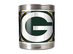 Great American Products 73516 Green Bay Packers Stainless Steel Can Holder with Metallic Graphics